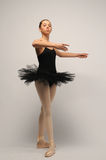 Young Ballerina in black tutu Royalty Free Stock Images