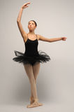 Young Ballerina in black tutu Royalty Free Stock Photos
