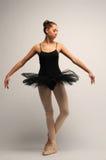 Young Ballerina in black tutu Royalty Free Stock Photo