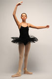 Young Ballerina in black tutu Stock Photo