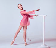 Young ballerina dancer showing her techniques Royalty Free Stock Photography