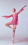 Young ballerina dancer showing her techniques Royalty Free Stock Image
