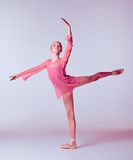 Young ballerina dancer showing her techniques Royalty Free Stock Images