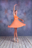 The young ballerina dancing Stock Photo