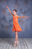 The young ballerina dancing Royalty Free Stock Images