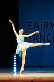 Young Ballerina girl dancing on stage Royalty Free Stock Images