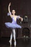Young ballerina in a lilac Royalty Free Stock Photos