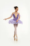 Young ballerina in a lilac Royalty Free Stock Image