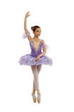 Young ballerina in a lilac Royalty Free Stock Images