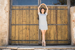 Young ballerina performing outdoors Royalty Free Stock Photography