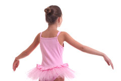 Young ballerina's back Royalty Free Stock Image