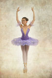 Young ballerina in Vintage style Stock Photos