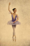 Young ballerina in Vintage style Stock Images
