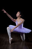 Young Ballerina Wearing Pointe Shoes and Tutu in Dance Pose Stock Photography