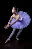 Young Ballerina Wearing Pointe Shoes and Tutu in Dance Pose Stock Photo
