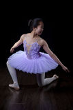 Young Ballerina Wearing Pointe Shoes and Tutu in Dance Pose Royalty Free Stock Photography