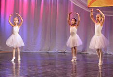 Young ballerinas on the stage Stock Photo