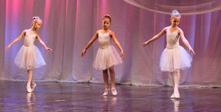 Young ballerinas on the stage Stock Photos