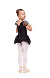 Young ballet dancer in black tutu Royalty Free Stock Photos