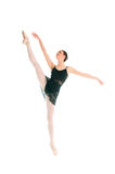 Young ballet dancer dansing on white background Royalty Free Stock Photo