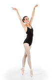 Young ballet dancer en pointe Royalty Free Stock Image