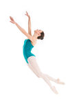 Young ballet dancer flying Stock Images