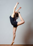 Young ballet dancer jumping high in the air Royalty Free Stock Photo