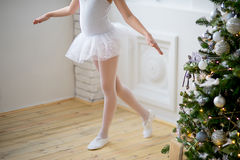 Young ballet dancer learning the lesson. Try some new pose Royalty Free Stock Photography