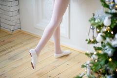 Young ballet dancer learning the lesson. Try some new pose Stock Photography
