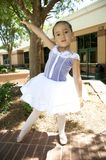 Young ballet dancer outdoors Royalty Free Stock Photo