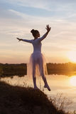 Young Ballet Dancer at Sunset Royalty Free Stock Image
