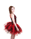 Young ballet girl in profile. Royalty Free Stock Images