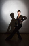 Young ballroom dancer Royalty Free Stock Images