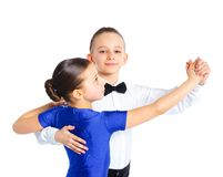 Young ballroom dancers Royalty Free Stock Photography