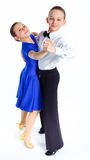 Young ballroom dancers Royalty Free Stock Photos