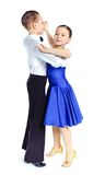 Young ballroom dancers Royalty Free Stock Image