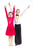 Young ballroom dancers Royalty Free Stock Photo