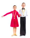 Young ballroom dancers Stock Photography