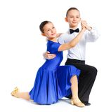 Young ballroom dancers Royalty Free Stock Images