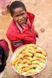 Young Banana Seller Royalty Free Stock Photography