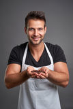 A young barista man Royalty Free Stock Images