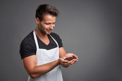 A young barista man Royalty Free Stock Photography
