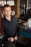 Young Barista Working At Coffeeshop Stock Image