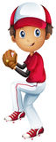 A young baseball catcher Royalty Free Stock Photo