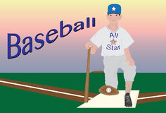Young baseball player Royalty Free Stock Images