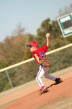 Young baseball pitcher on the mound Royalty Free Stock Image