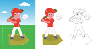 Young baseball player vector Stock Images