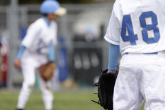 Young baseball players Royalty Free Stock Images