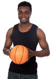 Young with basketball Royalty Free Stock Photo