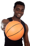 Young with basketball ball Stock Photo